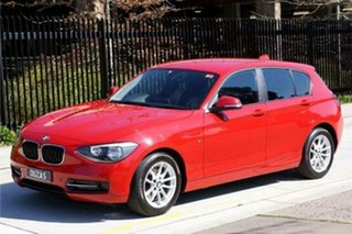 2015 BMW 1 Series F20 MY0714 116i Steptronic Red 8 Speed Sports Automatic Hatchback