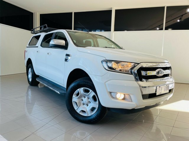 Used Ford Ranger PX MkII XLT Double Cab Deer Park, 2015 Ford Ranger PX MkII XLT Double Cab White 6 Speed Manual Utility