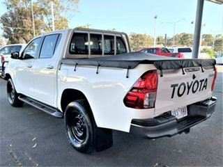 2017 Toyota Hilux GUN126R SR Double Cab Glacier White 6 Speed Sports Automatic Cab Chassis.