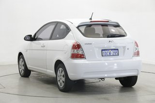 2009 Hyundai Accent MC MY07 S Noble White 5 Speed Manual Hatchback