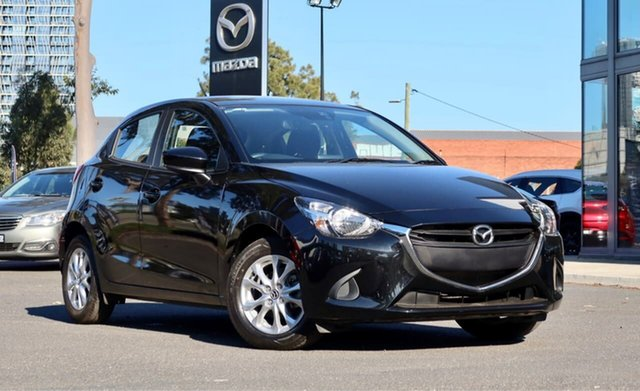 Used Mazda 2 DJ2HA6 Maxx SKYACTIV-MT South Melbourne, 2019 Mazda 2 DJ2HA6 Maxx SKYACTIV-MT Jet Black 6 Speed Manual Hatchback