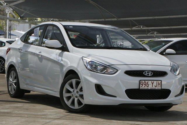 Used Hyundai Accent RB6 MY18 Sport Bundamba, 2018 Hyundai Accent RB6 MY18 Sport White 6 Speed Sports Automatic Sedan