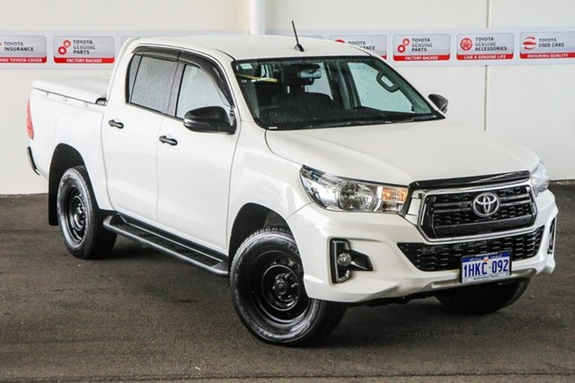Pre-Owned Toyota Hilux GUN126R SR Double Cab Rockingham, 2019 Toyota Hilux GUN126R SR Double Cab Glacier White 6 Speed Sports Automatic Utility