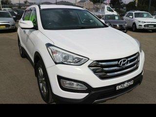 2013 Hyundai Santa Fe DM Elite CRDi (4x4) White 6 Speed Automatic Wagon.