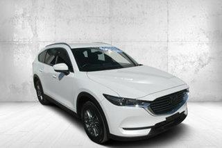 2018 Mazda CX-8 KG4W2A Sport SKYACTIV-Drive i-ACTIV AWD White 6 Speed Sports Automatic Wagon.