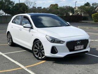 2017 Hyundai i30 GD5 Series II MY17 SR White 6 Speed Sports Automatic Hatchback.