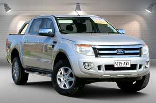 2012 Ford Ranger PX XLT Double Cab 4x2 Hi-Rider Silver 6 Speed Manual Utility.