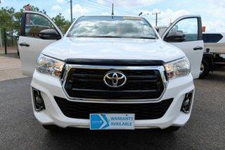 2018 Toyota Hilux GUN126R SR White 6 Speed Sports Automatic Dual Cab.