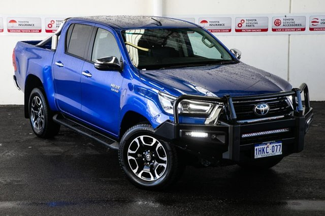 Pre-Owned Toyota Hilux GUN126R SR5 Double Cab Rockingham, 2020 Toyota Hilux GUN126R SR5 Double Cab Nebula Blue 6 Speed Sports Automatic Utility