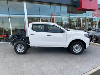 2021 Nissan Navara D23 MY21 SL Solid White 6 Speed Manual Cab Chassis.