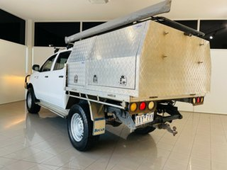 2014 Toyota Hilux KUN26R MY14 SR Double Cab White 5 Speed Manual Cab Chassis.