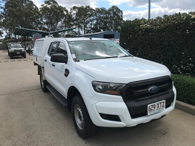 Used Ford Ranger PX MkII 2018.00MY XL Hi-Rider Acacia Ridge, 2017 Ford Ranger PX MkII 2018.00MY XL Hi-Rider White 6 speed Automatic Cab Chassis