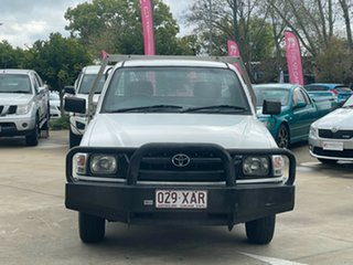 2004 Toyota Hilux LN147R MY02 4x2 White 5 Speed Manual Cab Chassis
