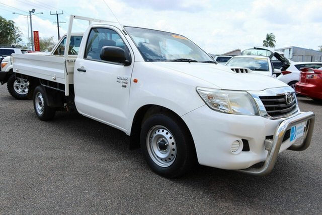 Used Toyota Hilux KUN16R MY14 SR 4x2 Winnellie, 2014 Toyota Hilux KUN16R MY14 SR 4x2 White 5 Speed Manual Cab Chassis