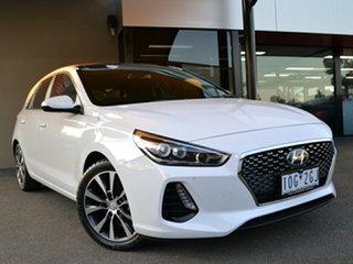2018 Hyundai i30 PD2 MY18 Premium D-CT White 7 Speed Sports Automatic Dual Clutch Hatchback.