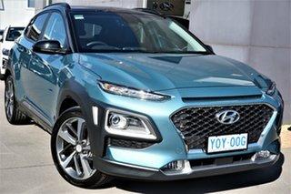 2020 Hyundai Kona OS.3 MY20 Highlander 2WD Blue 6 Speed Sports Automatic Wagon.