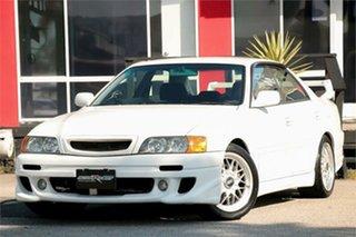 2000 Toyota Chaser JZX100 Tourer V White 4 Speed Automatic Sedan.