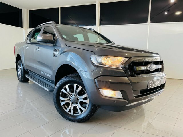 Used Ford Ranger PX MkII 2018.00MY Wildtrak Double Cab Deer Park, 2018 Ford Ranger PX MkII 2018.00MY Wildtrak Double Cab Grey 6 Speed Sports Automatic Utility