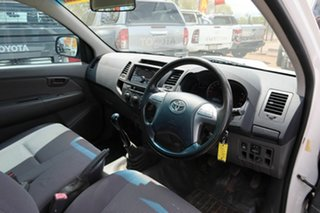 2014 Toyota Hilux KUN16R MY14 SR 4x2 White 5 Speed Manual Cab Chassis