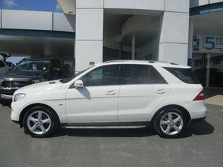 2012 Mercedes-Benz ML250 CDI BlueTEC 166 4x4 White 7 Speed Automatic Wagon.
