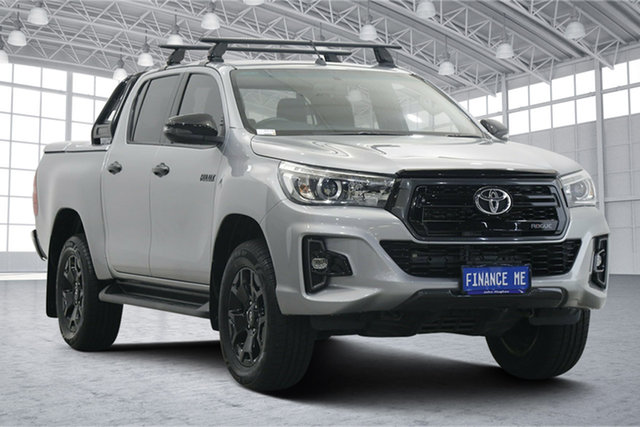 Used Toyota Hilux GUN126R Rogue Double Cab Victoria Park, 2018 Toyota Hilux GUN126R Rogue Double Cab Silver 6 Speed Sports Automatic Utility