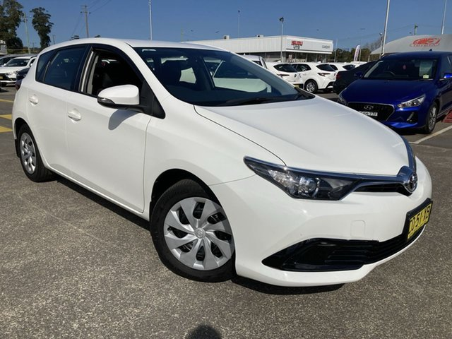 Pre-Owned Toyota Corolla ZRE182R Ascent S-CVT Cardiff, 2017 Toyota Corolla ZRE182R Ascent S-CVT White 7 Speed Constant Variable Hatchback