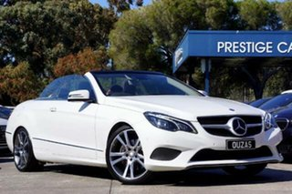 2014 Mercedes-Benz E-Class A207 MY14 E250 7G-Tronic + White 7 Speed Sports Automatic Cabriolet.