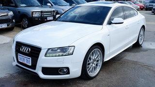 2011 Audi A5 8T MY11 Sportback S Tronic Quattro White 7 Speed Sports Automatic Dual Clutch Hatchback.