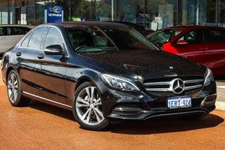 2014 Mercedes-Benz C-Class W205 C200 7G-Tronic + Black 7 Speed Sports Automatic Sedan.