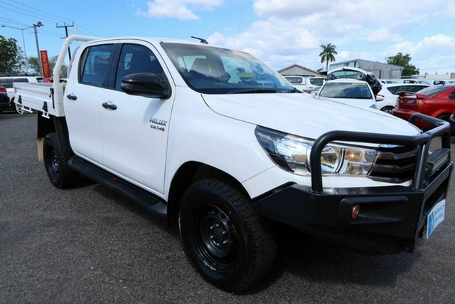 Used Toyota Hilux GUN126R SR Double Cab Winnellie, 2017 Toyota Hilux GUN126R SR Double Cab White 6 Speed Manual Cab Chassis