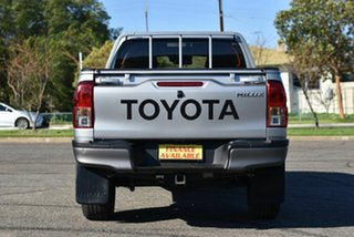 2017 Toyota Hilux GUN125R Workmate Double Cab Silver 6 Speed Sports Automatic Utility