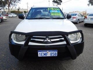 2010 Mitsubishi Triton MN MY10 GLX Double Cab White 5 Speed Manual Utility.