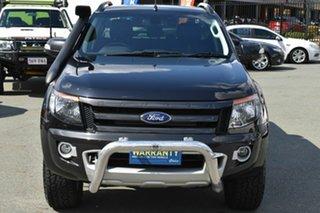 2014 Ford Ranger PX Wildtrak 3.2 (4x4) Black 6 Speed Automatic Crew Cab Utility.