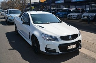 2016 Holden Ute Vfii MY16 SS Black Edition White 6 Speed Automatic Utility.