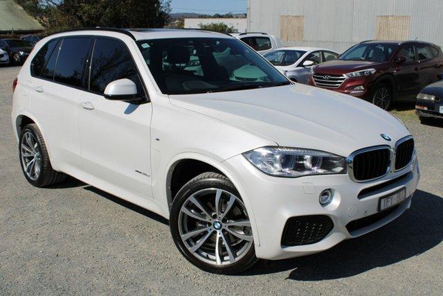 Used BMW X5 F15 xDrive30d Ferntree Gully, 2016 BMW X5 F15 xDrive30d White 8 Speed Sports Automatic Wagon