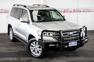 2019 Toyota Landcruiser VDJ200R Sahara Silver Pearl 6 Speed Sports Automatic Wagon.