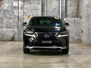 2017 Lexus NX AYZ15R NX300h E-CVT AWD F Sport Black 6 Speed Constant Variable Wagon Hybrid.