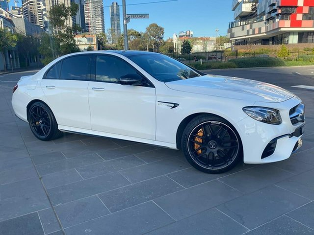 Used Mercedes-Benz E-Class W213 808MY E63 AMG SPEEDSHIFT MCT 4MATIC+ S South Melbourne, 2017 Mercedes-Benz E-Class W213 808MY E63 AMG SPEEDSHIFT MCT 4MATIC+ S White 9 Speed