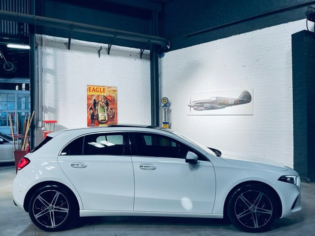 Used Mercedes-Benz A-Class W177 800MY A250 DCT Port Melbourne, 2019 Mercedes-Benz A-Class W177 800MY A250 DCT White 7 Speed Sports Automatic Dual Clutch Hatchback