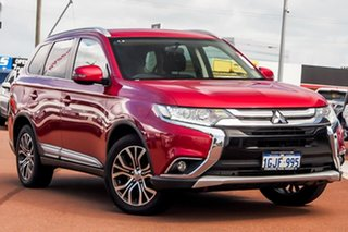 2017 Mitsubishi Outlander ZK MY17 LS 4WD Red 6 Speed Constant Variable Wagon.