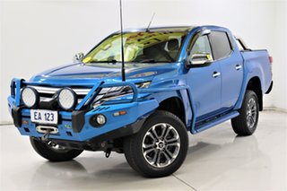 2019 Mitsubishi Triton MR MY19 GLS Double Cab Premium Blue 6 Speed Sports Automatic Utility.