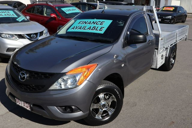 Used Mazda BT-50 UP0YD1 XT 4x2 Moorooka, 2013 Mazda BT-50 UP0YD1 XT 4x2 Grey 6 Speed Manual Cab Chassis