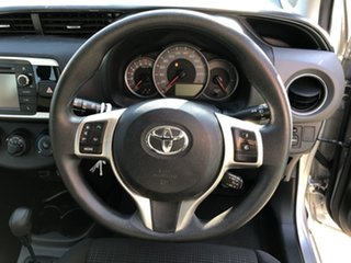 2014 Toyota Yaris NCP130R MY15 Ascent Silver Pearl 4 Speed Automatic Hatchback