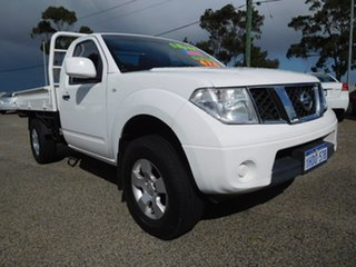 2012 Nissan Navara D40 S7 MY12 RX White 6 Speed Manual Cab Chassis