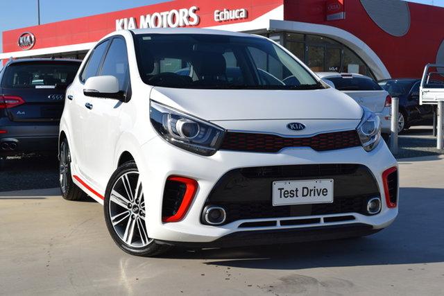 Used Kia Picanto JA MY19 GT-Line Echuca, 2018 Kia Picanto JA MY19 GT-Line White 4 Speed Automatic Hatchback