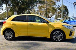 2019 Kia Rio YB MY19 GT-Line DCT Yellow 7 Speed Sports Automatic Dual Clutch Hatchback.