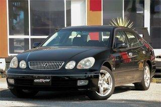 2004 Toyota Aristo JZS161 Black 4 Speed Automatic Sedan.