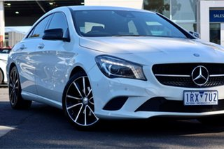 2015 Mercedes-Benz CLA-Class C117 806MY CLA200 DCT White 7 Speed Sports Automatic Dual Clutch Coupe.