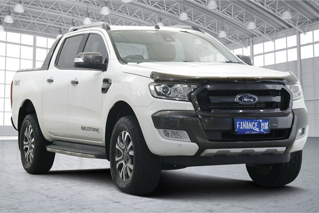 Used Ford Ranger PX MkII Wildtrak Double Cab Victoria Park, 2016 Ford Ranger PX MkII Wildtrak Double Cab White 6 Speed Sports Automatic Utility