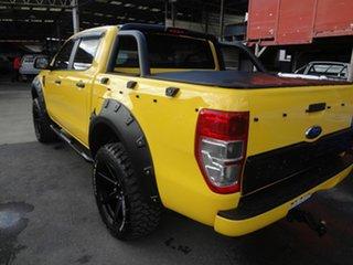 2013 Ford Ranger PX XL 2.2 Hi-Rider (4x2) Yellow 6 Speed Automatic Crew Cab Pickup.